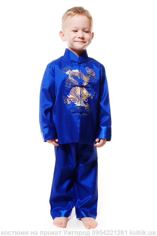 Китайський костюм, стиль, для хлопчика, одяг на прокат