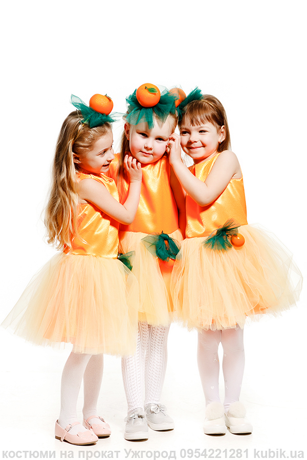 костюм Мандаринки, мандаринка, оранжеве плаття, мандарин, апельсин, апельсинка