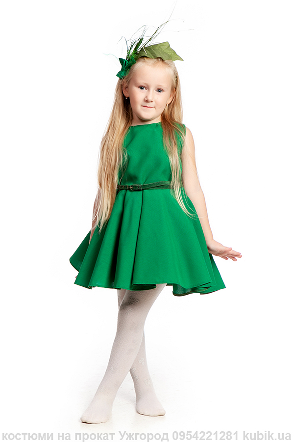 Травинка, зелене плаття костюм на прокат в ужгороді