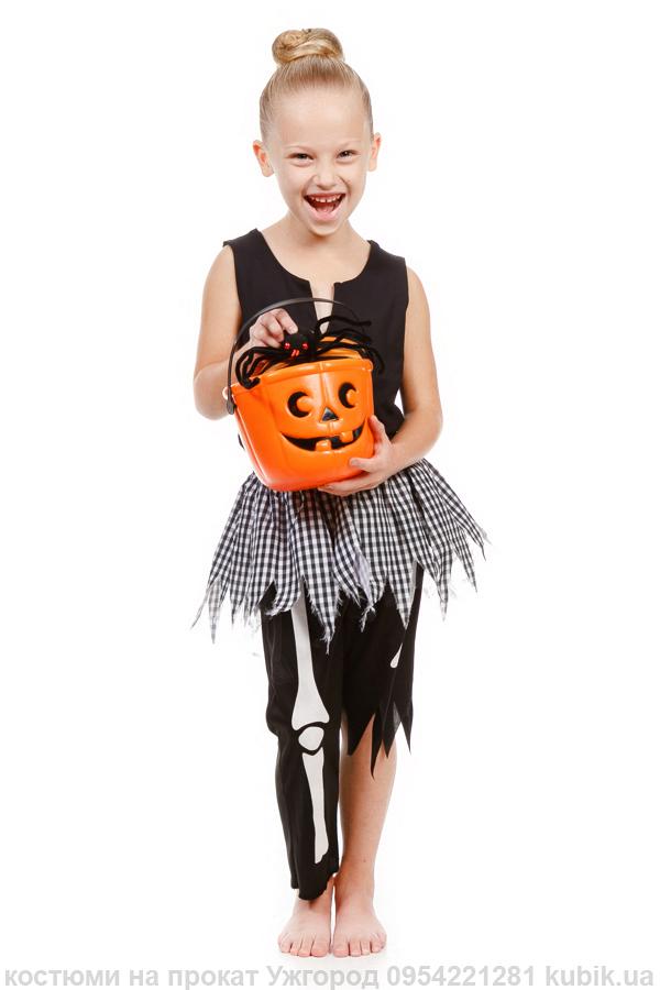 костюм скелетик для дівчинки до хеловін на прокат на вечірку в ужгороді